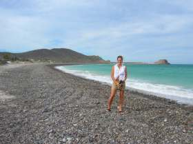 The author on the beach in Cabo Pulmo