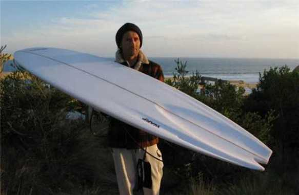 The nutty surf professor and his ingenious finless board.