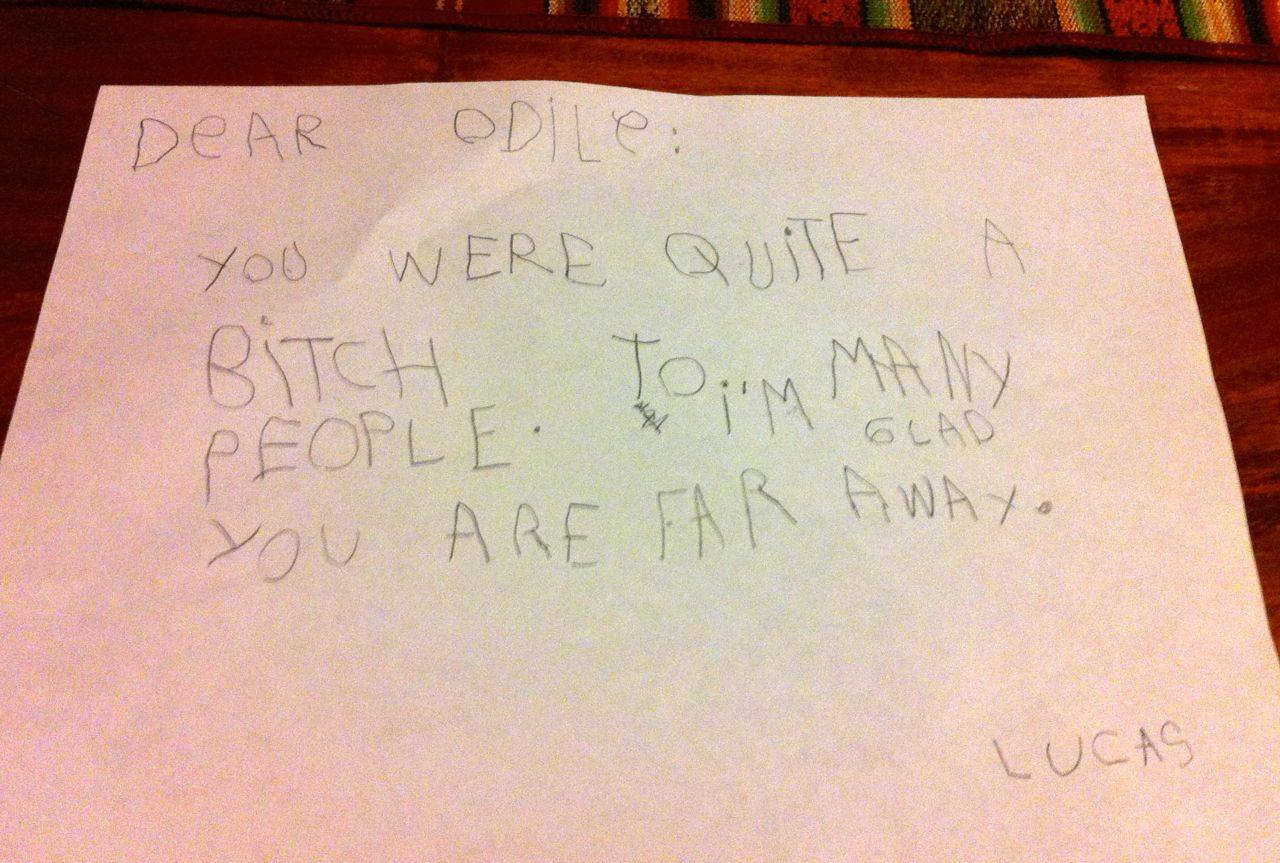 Lucas Letter to Odile